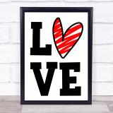 Big Love With Heart Quote Typogrophy Wall Art Print