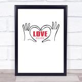 Love Is Love Quote Typogrophy Wall Art Print
