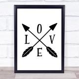 Love Quote Typogrophy Wall Art Print
