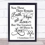 Christian Bible Love Quote Typogrophy Wall Art Print