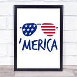 July 4Th America Quote Typogrophy Wall Art Print