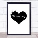 Love Running Quote Typogrophy Wall Art Print