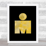 Ironman Gold Decorative Wall Art Print