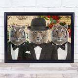 Lion & Tiger Gentlemen Decorative Wall Art Print