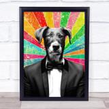 Dog In Suit Retro Decorative Wall Art Print