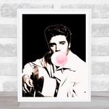 Elvis Bubble Gum Decorative Wall Art Print