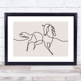 Block Colour Line Art Horse Decorative Wall Art Print