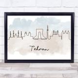 Watercolour Line Art Tehran Decorative Wall Art Print