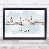 Watercolour Line Art Venice Decorative Wall Art Print