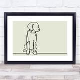 Block Colour Line Art Dog Decorative Wall Art Print