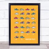 Marathon Miles 26 Trainers Decorative Wall Art Print