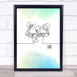 Lift Weights Watercolour Decorative Wall Art Print