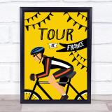 Tour De France Female Decorative Wall Art Print