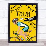 Tour De France Male Decorative Wall Art Print