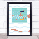 Swimmers Swimming Decorative Wall Art Print