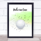 Golf Hole In One Decorative Wall Art Print