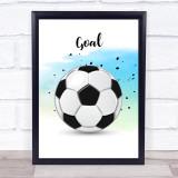 Football Goal Decorative Wall Art Print