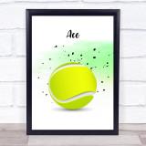 Tennis Point Decorative Wall Art Print