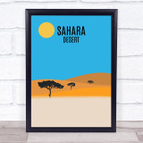 Sahara Desert Decorative Wall Art Print