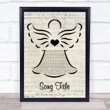 Any Song Custom Music Script Angel Personalised Lyrics Print