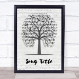 Any Song Custom Music Script Tree Personalised Lyrics Print