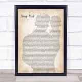 Any Song Lyrics Custom Father & Baby Song Lyric Print