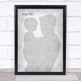 Any Song Lyrics Custom Father & Child Grey Song Lyric Print