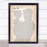 Any Song Lyrics Custom Father & Child Song Lyric Print