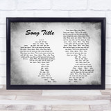 Any Song Lyrics Custom Grey Landscape Couple Personalised Lyrics