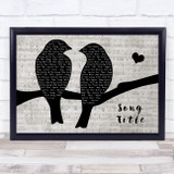 Any Song Lyrics Custom Lovebirds Music Script Song Lyric Print
