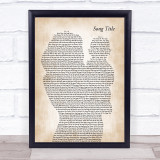 Any Song Lyrics Custom Mother & Baby Song Lyric Print