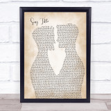 Any Song Lyrics Custom Two Men Gay Couple Wedding Song Lyric Print