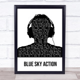 Above & Beyond feat. Alex Vargas Blue Sky Action Black & White Man Headphones Song Lyric Print