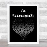 Sébastien Tellier La Ritournelle Black Heart Song Lyric Print