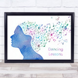 Sinead O'Connor Dancing Lessons Colourful Music Note Hair Song Lyric Print