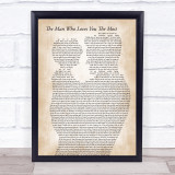 Zac Brown Band The Man Who Loves You The Most Father & Child Song Lyric Print