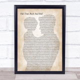 Bob Seger Old Time Rock And Roll Father & Child Song Lyric Print