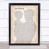 Stereophonics Just Looking Father & Child Song Lyric Print