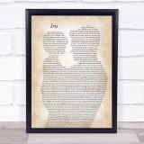 Goo Goo Dolls Iris Father & Child Song Lyric Print