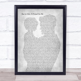 Randy Newman You've Got A Friend In Me Father & Child Grey Song Lyric Print
