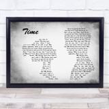 Chase & Status Time Man Lady Couple Grey Song Lyric Print