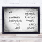 Picture This 95 Man Lady Couple Grey Song Lyric Print
