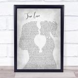 P!nk ft. Lily Allen True Love Lesbian Women Gay Brides Couple Wedding Grey Song Lyric Print
