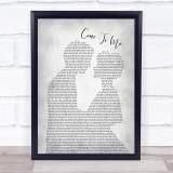 Goo Goo Dolls Come To Me Man Lady Bride Groom Wedding Grey Song Lyric Print