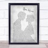 Jim Reeves Anna Marie Man Lady Bride Groom Wedding Grey Song Lyric Print