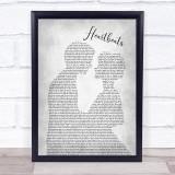 José González Heartbeats Man Lady Bride Groom Wedding Grey Song Lyric Print