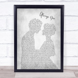 Louis Tomlinson Always You Man Lady Bride Groom Wedding Grey Song Lyric Print
