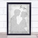 Liam Payne & Rita Ora For You Man Lady Bride Groom Wedding Grey Song Lyric Print