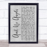 Tim McGraw Ain't No Angels Grey Rustic Script Song Lyric Print