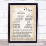 Liam Payne & Rita Ora For You Man Lady Bride Groom Wedding Song Lyric Print